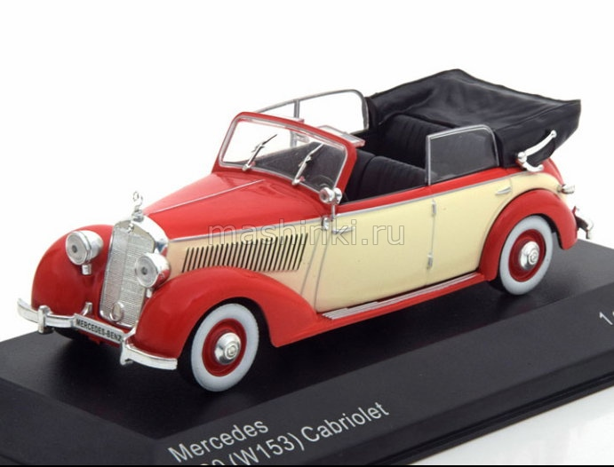 WB224 14+ WHITEBOX WHITEBOX 1/43 MERCEDES 230 W153 Cabriolrt red/beige