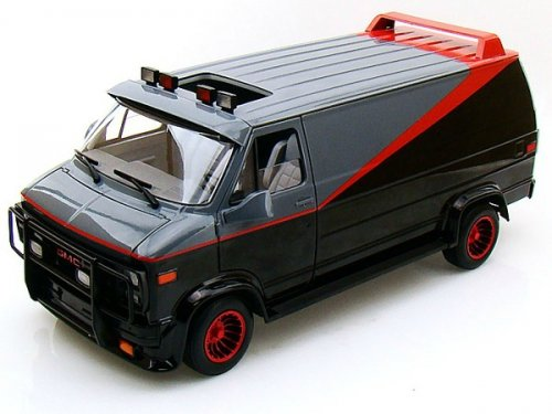 X5531 HOT  WHEELS GMC A-Team van (фургон из к.ф. `Команда-А`)
