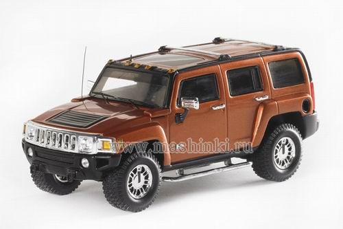 101287 LUXURY COLLECTIBLES HUMMER H3 2006 (solar flare metallic)