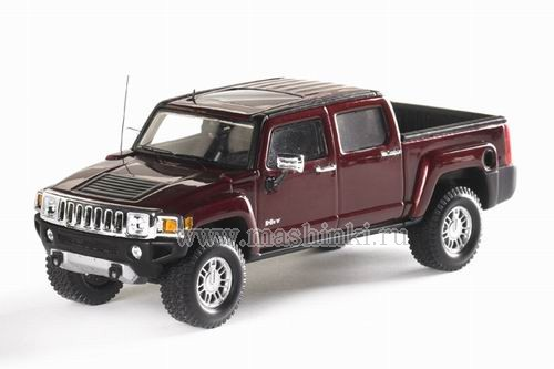 101300 LUXURY COLLECTIBLES HUMMER H3T 2008 (sonoma red metallic)