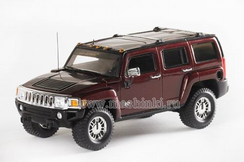 101324 LUXURY COLLECTIBLES HUMMER H3 2006 (sonoma red metallic)