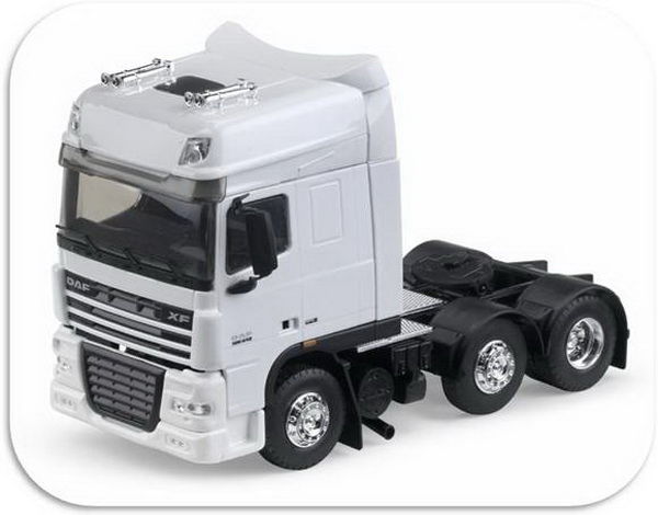 113666 ELIGOR DAF XF105 Super Space 6x2 - white седельный тягач 2007