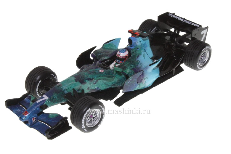 400070007 MINICHAMPS HONDA RACING F1 RA107 J.BUTTON 2007