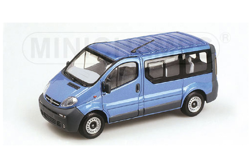 430040511 MINICHAMPS OPEL VIVARO - 2001 - BLUE METALLIC