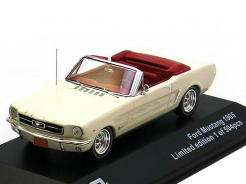 43012 TRIPLE 9 COLLECTION FORD Mustang Convertible 1965 бежевый