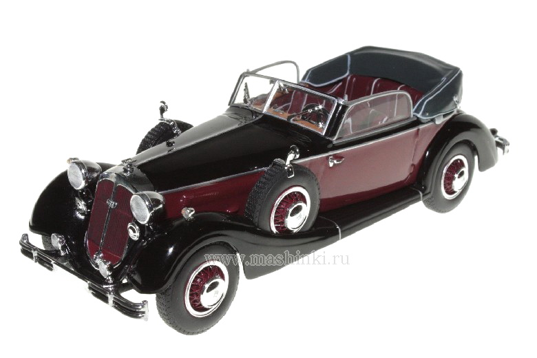 436012035 MINICHAMPS 436012035 HORCH 853A CABRIOLET 1938 BLACK/RED 436012035