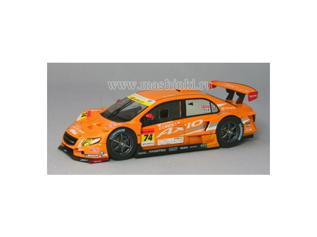 44435 EBBRO TOYOTA COROLLA AXIO SUPERGT300 #74 2010 (orange)