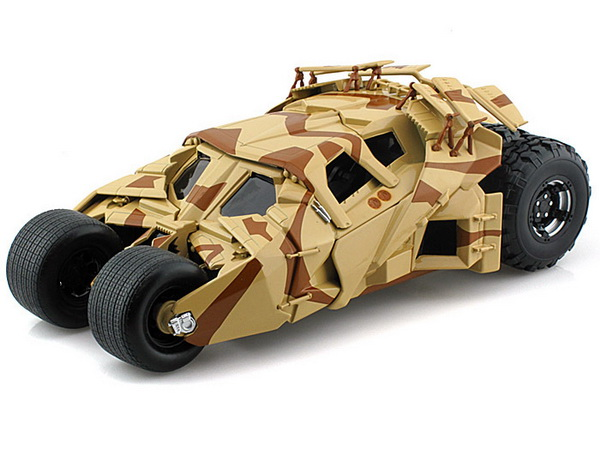 BCJ76 MATTEL HOT WHEELS THE DARK KNIGHT RISES BATMAN BATMOBILE TUMBLER CAMOUFLAGE
