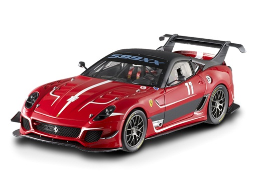 BCJ91 MATTEL HOT WHEELS Ferrari 599 XX EVO#11 RED