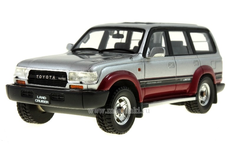HS032AT HI-STORY Toyota Land Cruiser 80 1992 (Silver / Red)