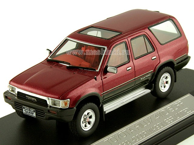 HS041RE HI-STORY TOYOTA HILUX SURF 4WD SSR-Ltd 1989 (red)