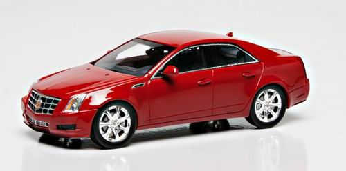 LC100990 LUXURY COLLECTIBLES CADILLAC CTS SEDAN 2011 (crystal red)