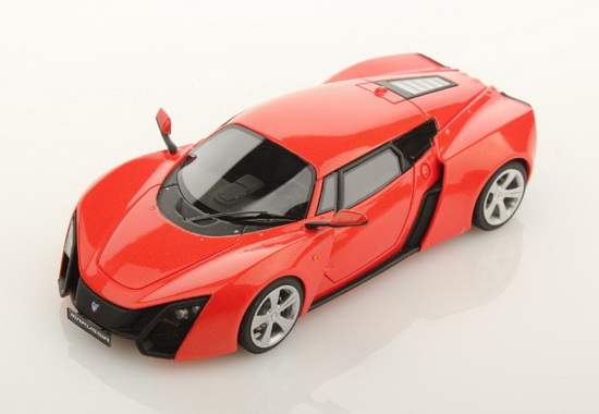 LSMA01C LOOK SMART Marussia B2-2009-Sparkling Red Orange (Deep Black Interior) Ltd.ed.165