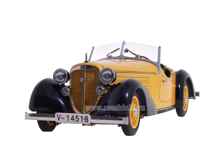 M-075A CMC AUDI 225 FRONT ROADSTER 1935 (yellow/black)