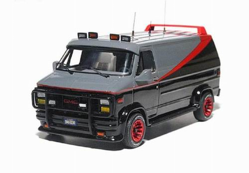 MT8424T MATTEL HOT WHEELS GMC VANDURA CARGO G-SERIES VAN A-TEAM