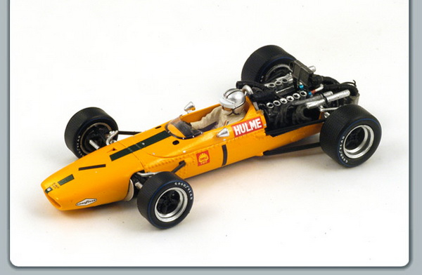 S3123 SPARK McLaren M5A BRM #1 5th South African GP 1968 Denny Hulme