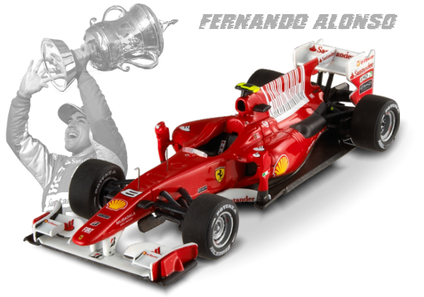 T6266 MATTEL HOT WHEELS Ferrari F2010 «Bahrain 80th 1-2 Winner» (Fernando Alonso)