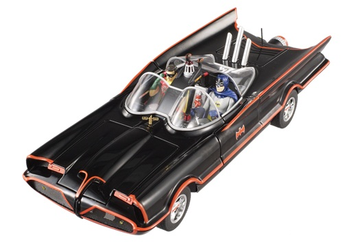 bcj95 MATTEL HOT WHEELS Batmobile TV Series 1966 с фигурками