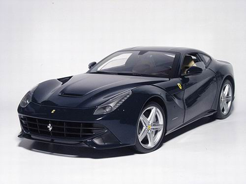 x5476 MATTEL HOT WHEELS Ferrari F12 Berlinetta (Blu Pozzi very dark and elegant blue with Creme interior) 2012
