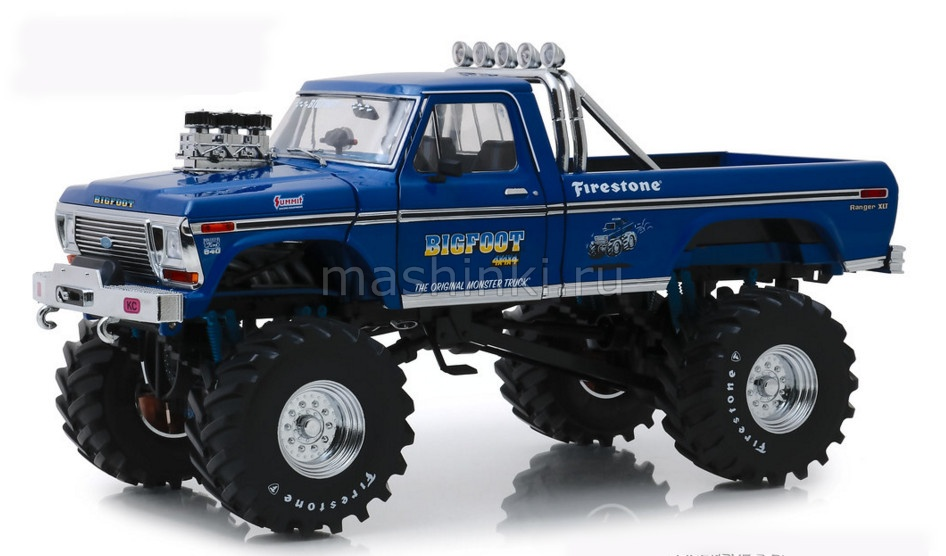 13537 14+ GREENLIGHT GREENLIGHT 1/18 FORD F-250 Monster Truck Bigfoot №1 with 48-Inch Tires 1974