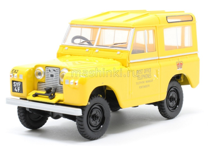 43LR2S004 14+ OXFORD OXFORD 1/43 LAND ROVER Series II SWB Hard Top Post Office Telephones 1960 yellow