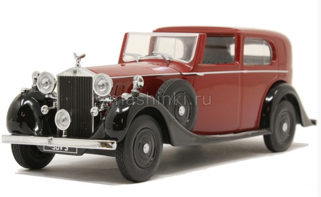 43RRP3003 14+ OXFORD OXFORD 1/43 ROLLS-ROYCE Phantom Ill SDV H.J Mulliner 1937 dark red/black