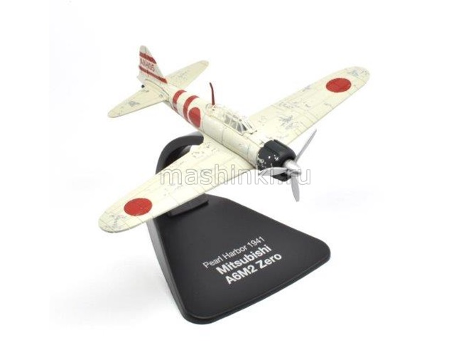 4909413 14+ ATLAS ATLAS 1/72 MITSUBISHI A6M2 Model 21 Zero Lt Yoshio Shiga attack Pearl Harbor 7 December 1941 самолет