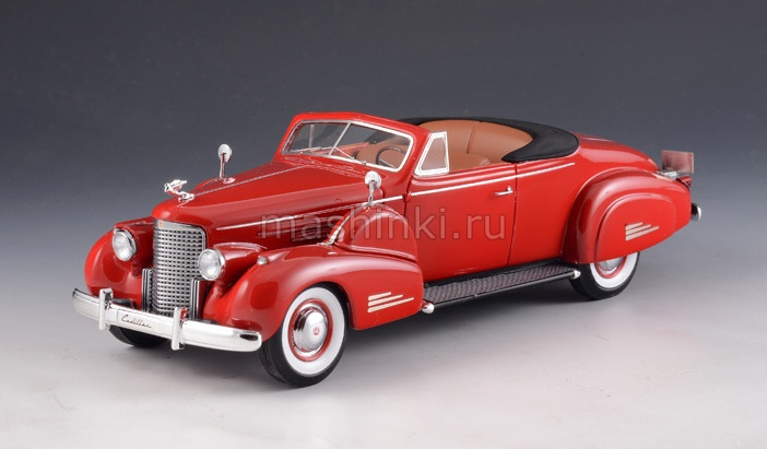 GLM43101603 14+ GLM GLM 1/43 CADILLAC V16 Convertible Coupe (открытый) 1938 red