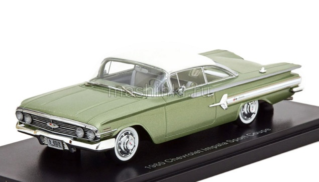 NEO46919 14+ NEO NEO 1/43 CHEVROLET Impala Sport Coupe 1960 metallic light green/white