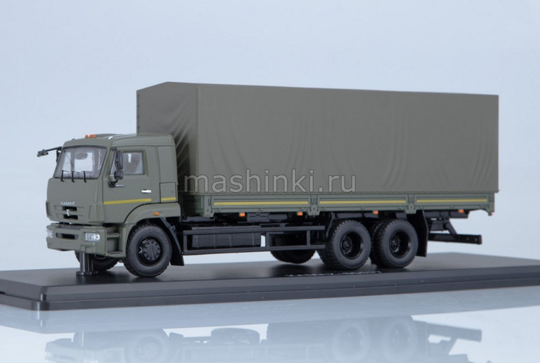 SSM1318 14+ SSM (START SCALE MODELS) SSM 1/43 КАМАЗ-65117 бортовой рестайлинг хаки