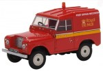 43LR2AS002 14+ OXFORD OXFORD 1/43 LAND ROVER Series IIA SWB Hard Top Royal Mail Post 1970 red